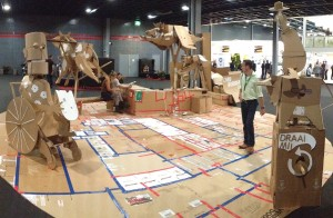 cardboarders prepare